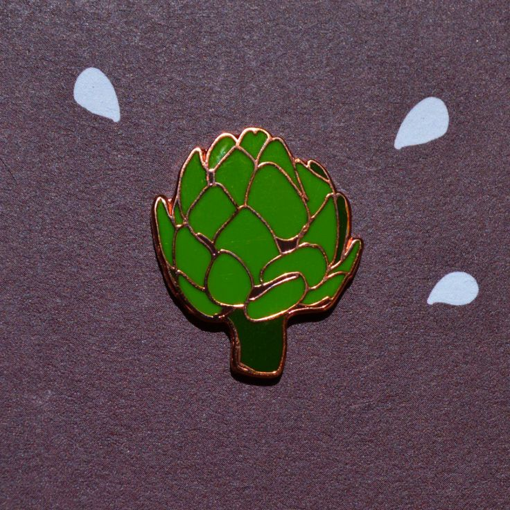 Artichoke Pin by POQUITOwhimsy