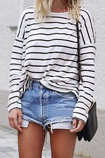 Fashion Stripe Long Sleeve T-Shirt