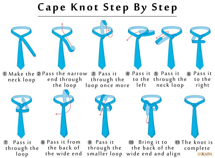 Cape Knot 101 Knots Neck Tie Knots Tie Knots Tutorial Tie Knots