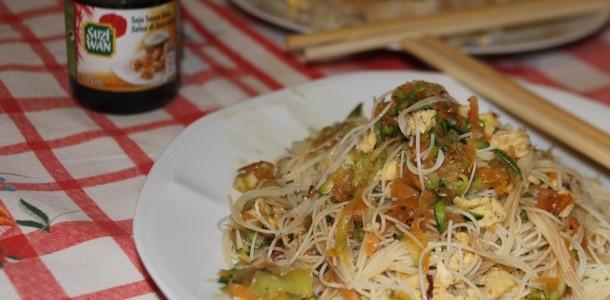 #spaghetti di riso con #verdure