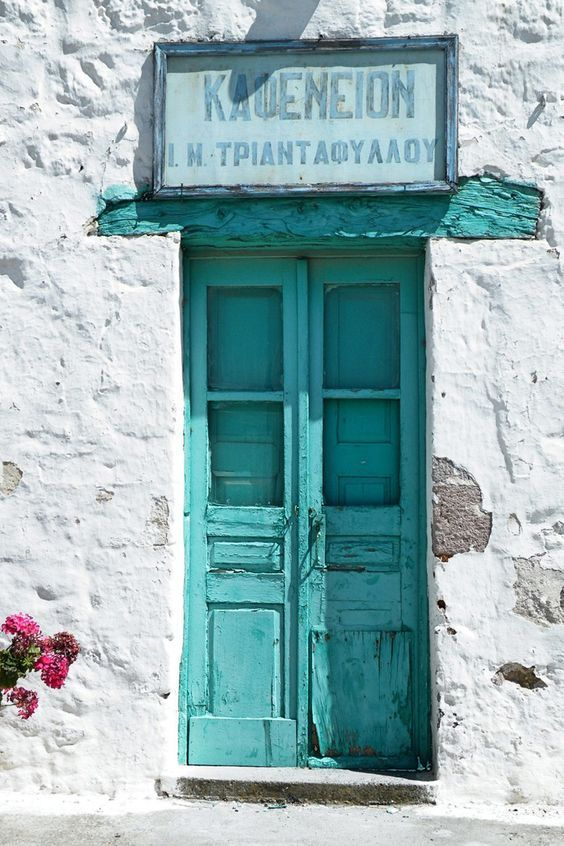 Traditional coffee shop. Kithira, Greece