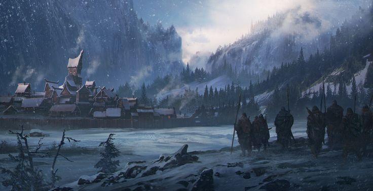 ArtStation - Northen landscape, Sergey Vasnev