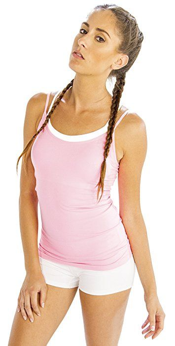High-Performance Baby Pink Women's #Fitness #Camisole at Amazon Women's Clothing Store
