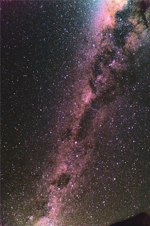 Milky Way as seen from New Zealand. I've never seen the Milky Way so bright as I've seen it in New Zealand.