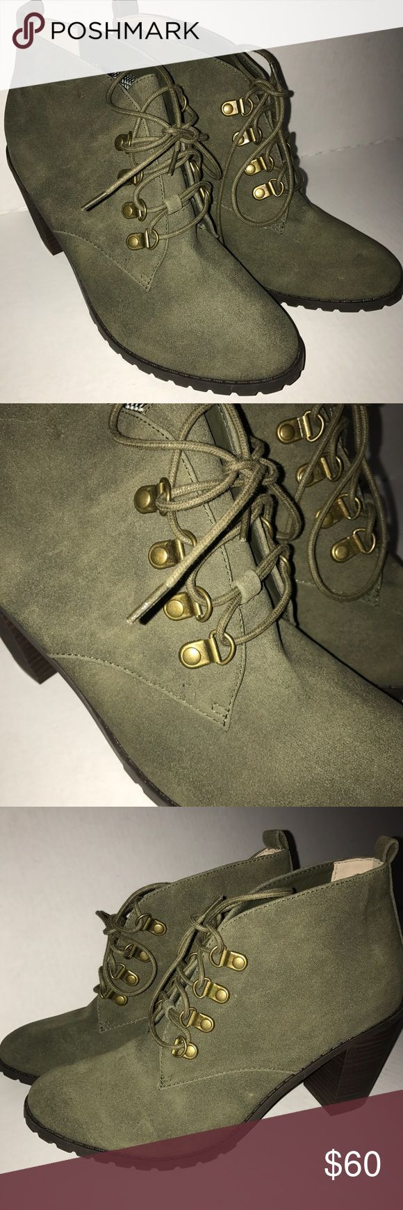 New Fall Olive Green Booties *Olive green *NEW *women's size 9 Restricted Shoes Ankle Boots & Booties