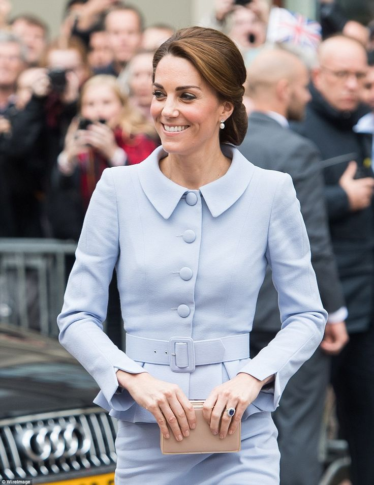 Kate, who is patron of the National Portrait Gallery looked delighted to be visiting the Mauritshuis art museum
