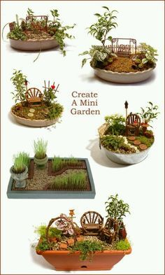 Fairy garden - I think Kathryn would love this
