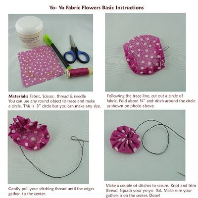 Basic Yo-Yo Fabric Flower Instructions