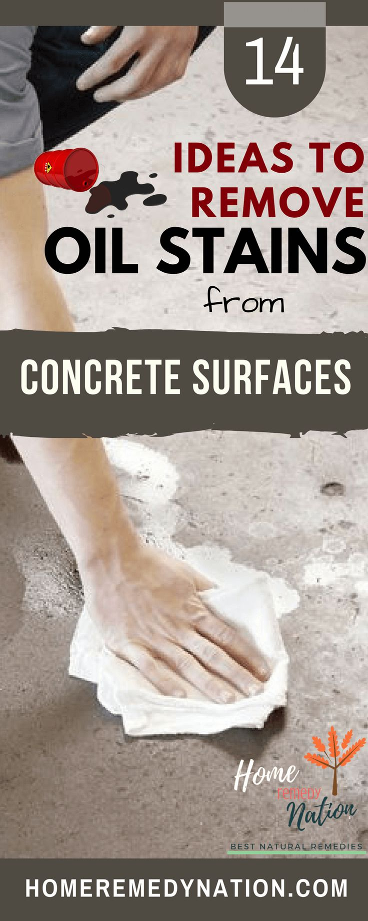 how to get oil out of concrete slab
