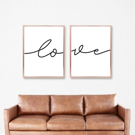 Love Matching Printables, Bedroom Quote Decor Prints, Above Couch Sign Set, Script Calligraphie, Instant Digital Download, 8×10-16×20