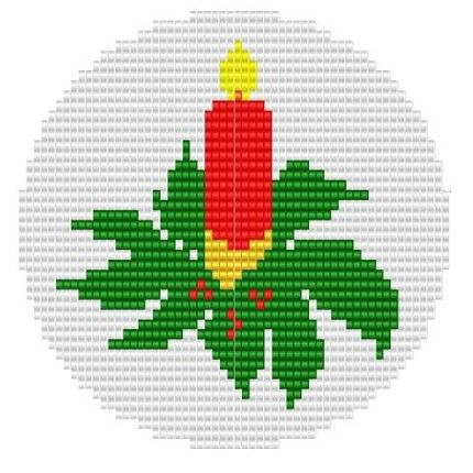 Ornament+One+Candle+pattern+for+loom+or+square+by+GGsDesigns,+$3.00