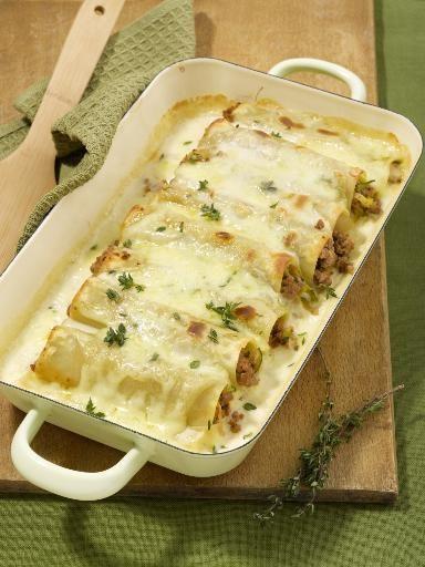 Canelloni mit Zucchini-Hack-Füllung