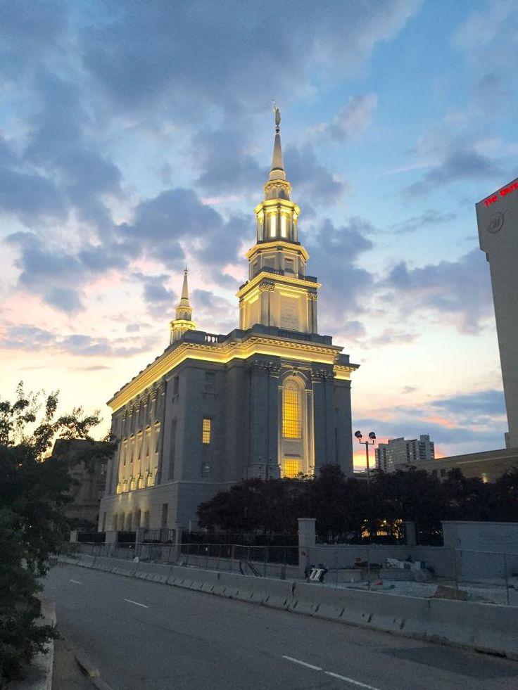 Philadelphia Pennsylvania LDS (Mormon) Temple Construction Photographs