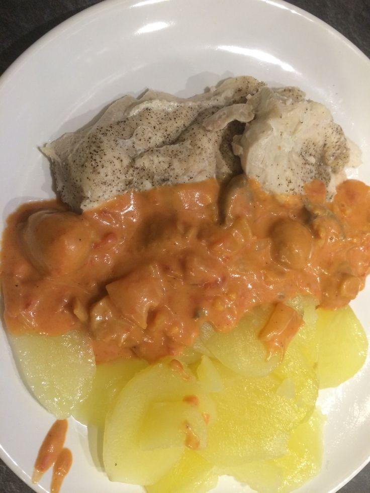 Filet de poulet et sa sauce onctueuse au Cook'in