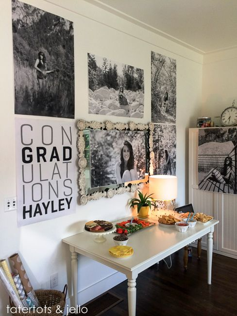 """Free Poster Printable: Con""""grad""""ulations!! Perfect for a Graduation party! -- Tatertots and Jello"""