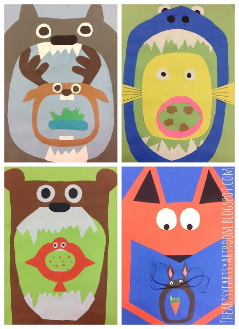 The Artsy Fartsy Art Room: Stylized Food Chains with 5th Grade