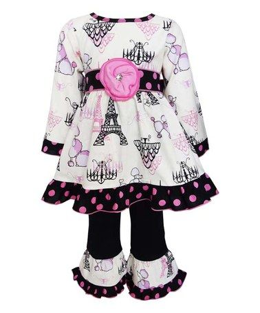 Another great find on #zulily! Pink Poodles in Paris Dress & Leggings - Infant, Kids & Tween #zulilyfinds