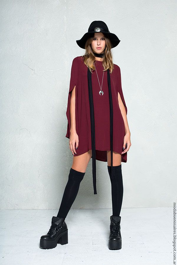 Moda otoño invierno 2016 vestidos de moda 47 Street.