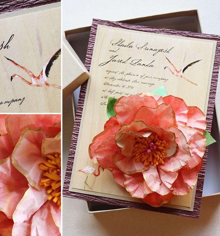 Shailaja S Sculpted Lotus Wedding Invitations