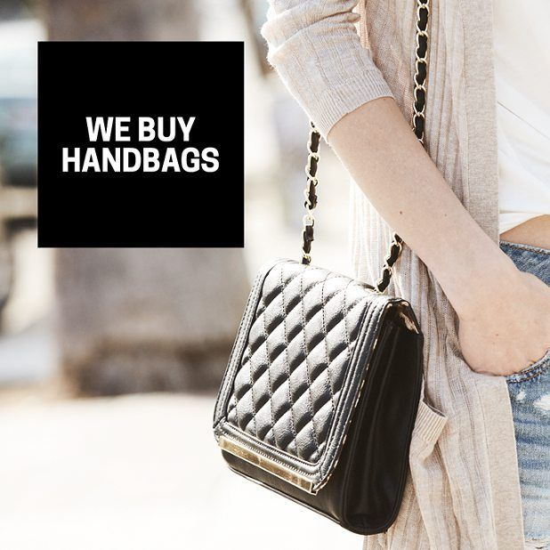 Small bags large bags bags that are metallic shiny striped floral or animal printed - we want them all! Earn cash by selling the us your gently-used name brand handbags then take a peek to see what handbags we have in stock because if you're going to say goodbye to one friend you may as well say hello to another ;)