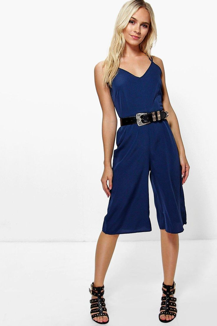 Petite Lily Strappy Back Culotte Jumpsuit