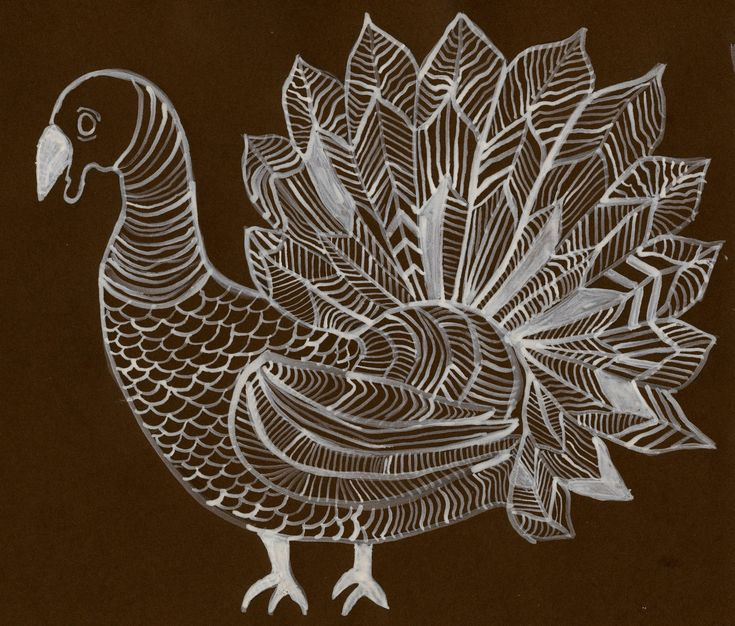 Line Art Grade : Turkey line drawing this is a good project for grades