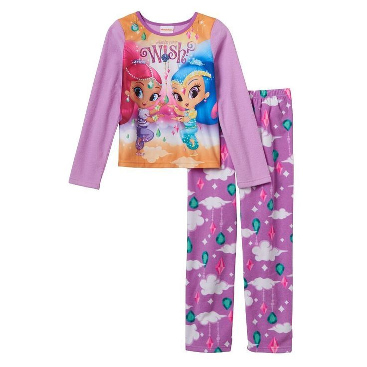 Shimmer & Shine Fleece Pajama Set Nickelodeon Girls Size 8 #Nickelodeon #PajamaSet
