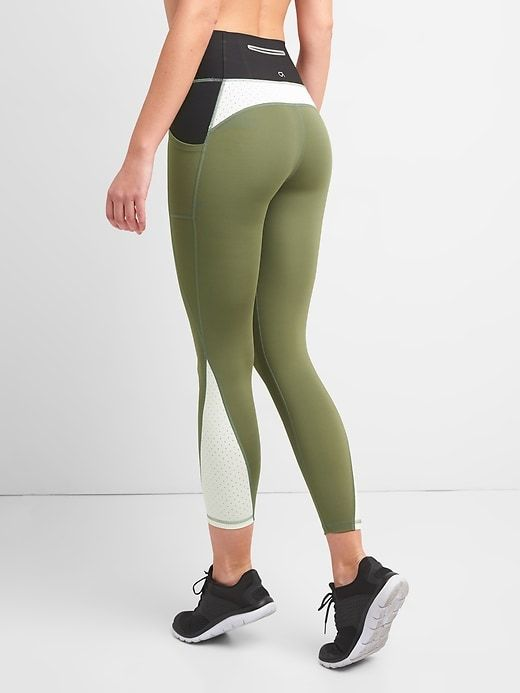 db963e59e3 Gap Womens Gapfit Gfast High Rise 7/8 Leggings In Sculpt Revolution Greenway