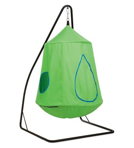Indoor Swing for Kids Bedroom or Playroom. Nylon Canvas HugglePod™HangOut with LED Lights 4. Sensory Integration. Calming.