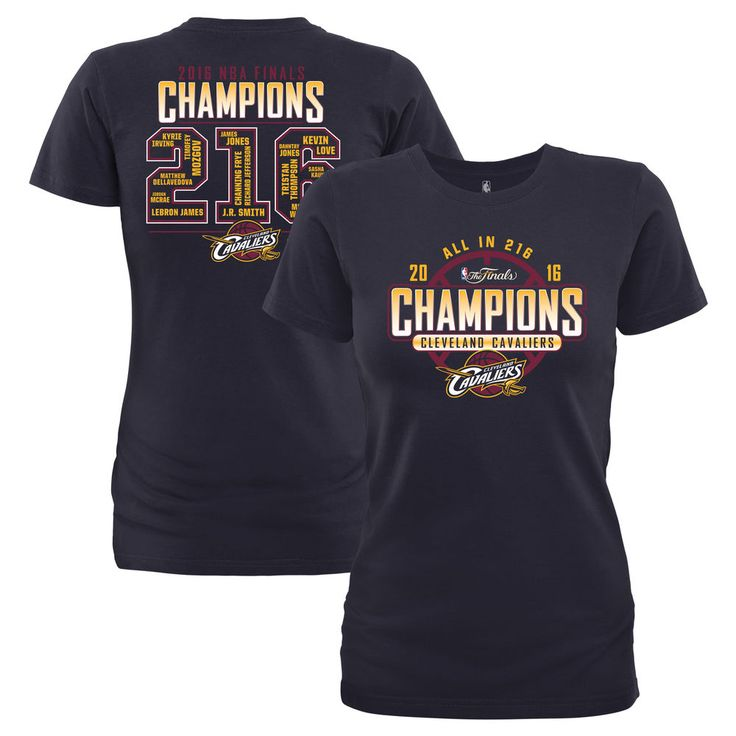 Cleveland Cavaliers Women's 2016 NBA Finals Champions Roster T-Shirt - Navy