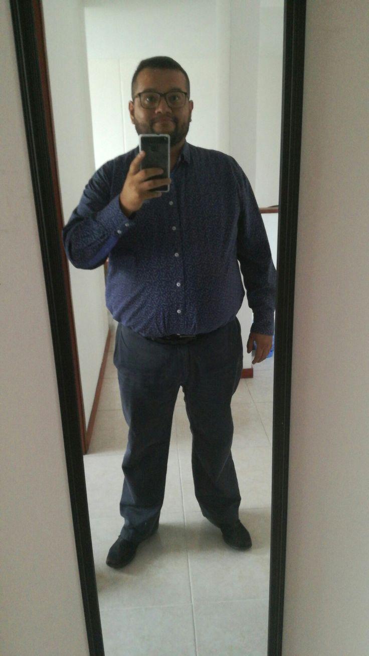 #blueshirt #blue #fatty #outfit