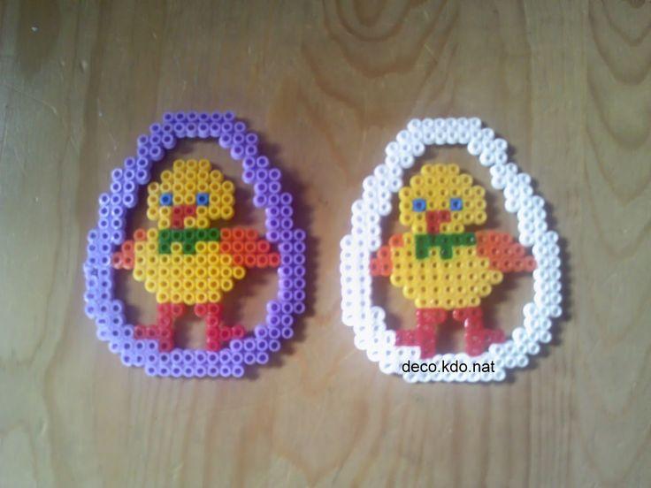 Easter eggs hama perler beads by deco.kdo.nat