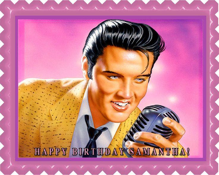 Elvis Presley Edible Birthday Cake Topper OR Cupcake Topper, Decor #BirthdayChild