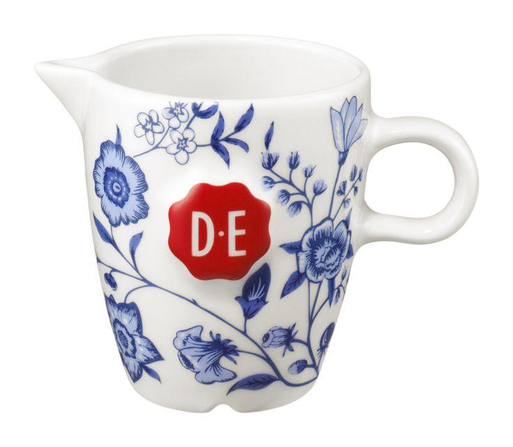 D.E Hylper melkkannetje - wit blauw, white blue #coffee #porcelain #milk #jug #HylperHeritage #DouweEgberts