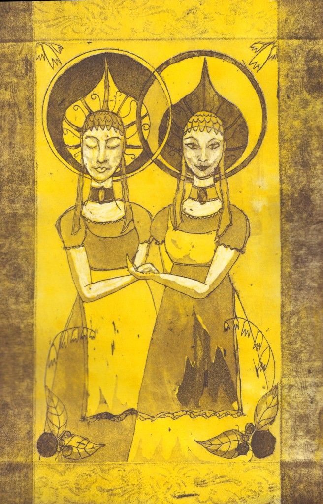 Jumelles, etching and aquatinta 2015