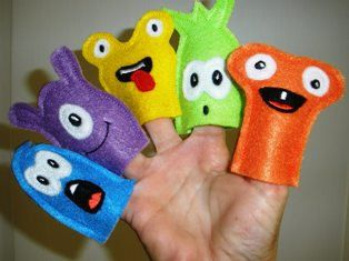 Monster Finger Puppet Set In the Hoop Embroidery by FiveStarFonts, $9.99