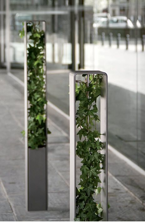 security bollard for public spaces HEDERA bollard ATECH