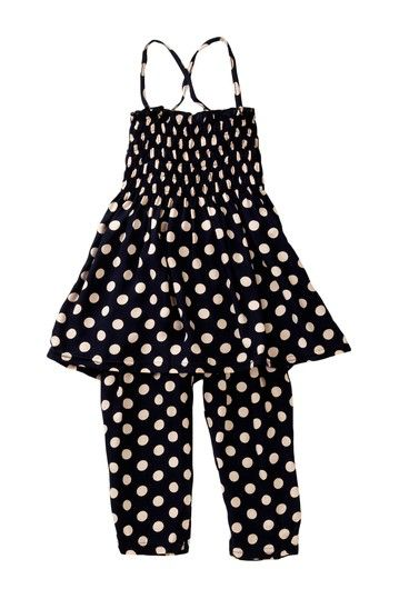 Girls Polka Dot Print Set