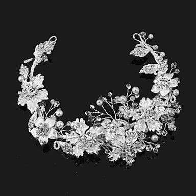Pearl+Alloy+Imitation+Pearl+Headpiece-Wedding+Special+Occasion+Outdoor+Tiaras+1+Piece+–+USD+$+19.99