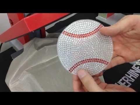 How to Make a Baseball Rhinestone Car Window Decal Bling-N-E-Thing The Rhinestone World - YouTube