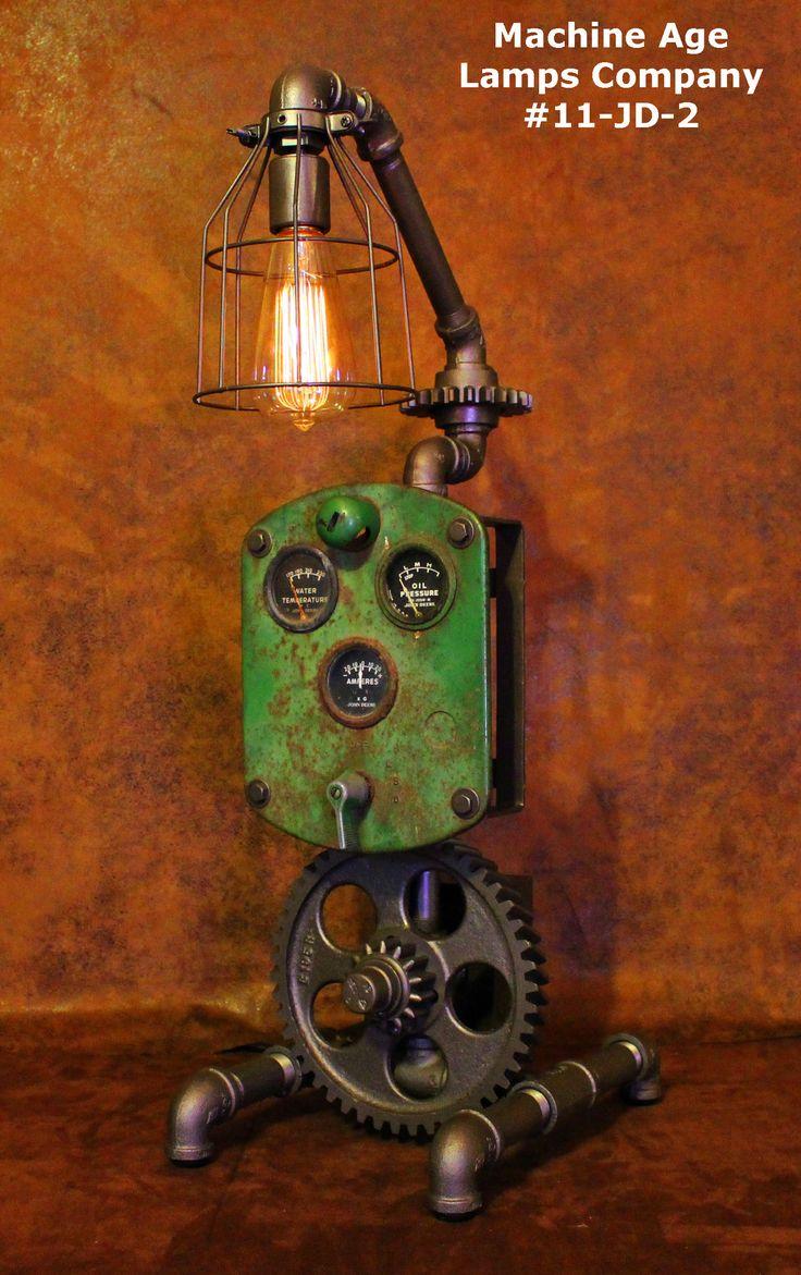 Steampunk Lamp John Deere Farm #11-JD-2 - SOLD