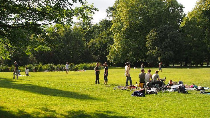 Entspannen im Park mit Freunden, das beste! Am besten noch ne Runde Grillen, perfekt!