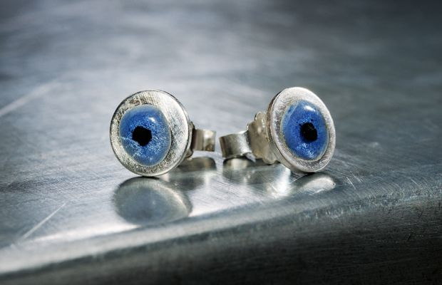 charms blue eye errings new in the shop