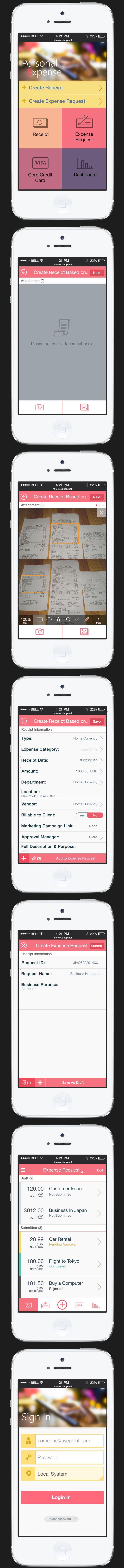 Ada's Mobile Design - Expense App