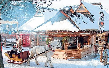 Zakopane, Poland: skiing with divine guidance A beautyful area for winterholyday. I hope to go there one day soon, even if I don`t ski:-)