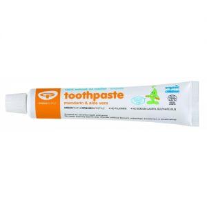 Pasta de dinti homeopata, cu mandarina organica, pentru copii si pentru bebelusi.   GreenBoutique.ro - Magazin online cu pasta de dinti pentru bebelusi, cosmetice BIO, miere Manuka