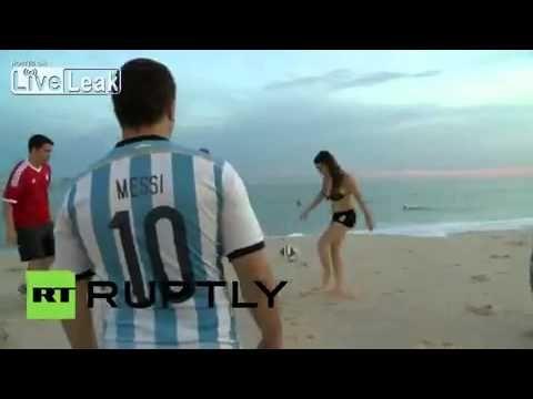 Une petite bombe Argentine défie Lionel Messi (vidéo) - http://www.actusports.fr/110192/petite-bombe-argentine-defie-lionel-messi-video/