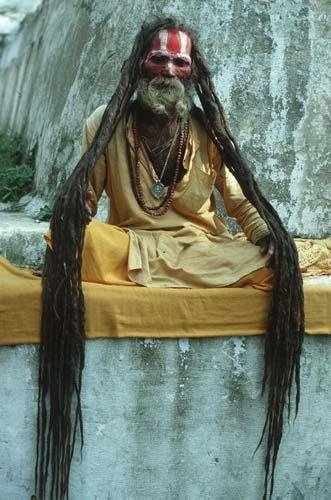 Most Shaivite Sadhus Have Long Matted Hair In Imitation Of