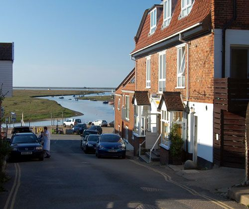 View from bottom of Blakeney high street North Norfolk