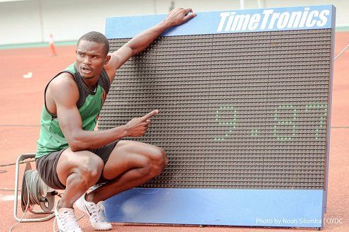 Sydney Siame. After clocking 9.88 (+0.2 m/s) and breaking the Zambian Record of US trained Gerald Phiri (10.03, 2014). At the Heroes stadium, Allcomers meet in Lusaka. Siame has qualified for the London IAAF Olympics. Where his time puts him as a medal prospect. His previous best was 10.   #2010 FIFA World Cup #2012 Summer Olympics #Africa Cup of Nations #African National Congress #BBC #Business Insider #Edgar Lungu #International Association of Athletics Federations #Londo